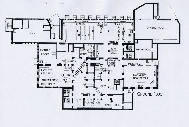 Floor Plans for the Main Branch – The Public Library of Brookline