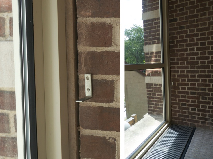 bracket in masonry with view